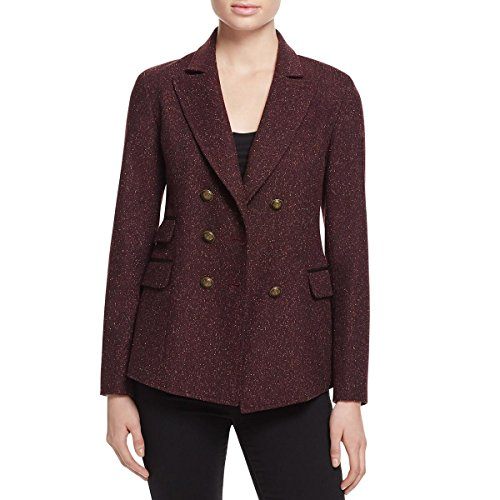 Red Wool Blazer Jacket (Rebecca Minkoff Women's nevins Jacket, Wine Multi, 4)