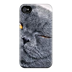 New Animals Cats Cat Eyes Shut Tpu Case Cover, Anti-scratch MarilouLCariso Phone Case For Iphone 4/4s