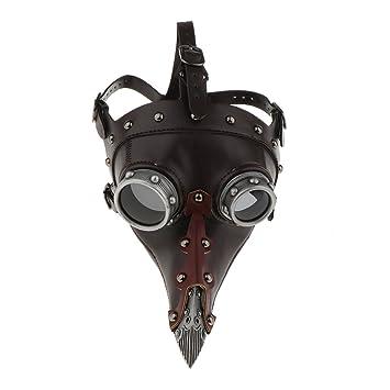 Baoblaze Máscara Disfraces Médico de la Peste Negra Halloween Fiesta de Mascarada Punk Steampunk Medieval
