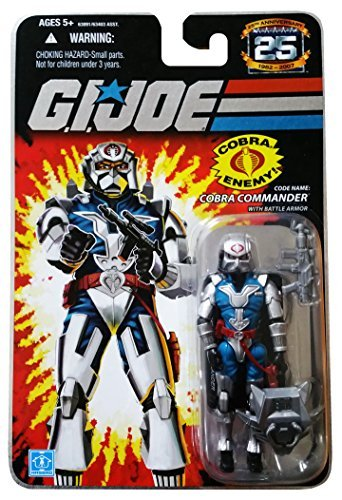 G.I. Joe 25th Anniversary: Cobra Commander with Battle Armor (Cobra Leader) 3.75 Inch Action Figure (1 Popular Magazine)