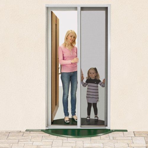 JAROLIFT Insektenschutzrollo für Türen - Rollo vertikal - 125 x 220 cm - Farbe weiß