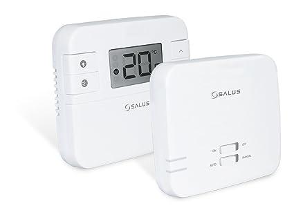 Termostato inalámbrico programable controlable por smartphone y unidad receptora, de Salus