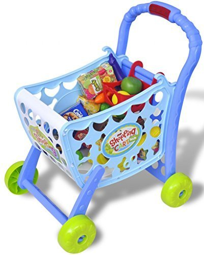 3dacba94b725 3 in 1 Kids Supermarket Shopping Trolley Childrens Role Play Set with Food  & Money Accessories: Amazon.co.uk: Toys & Games