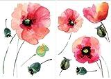 Crearreda CR-81003 Watercolor Poppies Decal