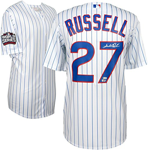 Addison Russell Chicago Cubs 2016 MLB World Series Champions Autographed Majestic White Replica World Series Jersey - Fanatics Authentic Certified