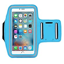 [1 Pack]Running Armband,CaseHQ Sports Water Resistant with Key Holder Pouch Fit iPhone 7 6 6s Plus(5.5-Inch) Samsung Galaxy S7 S6/S5, Note 4/3 ,Bundle with Screen Protector