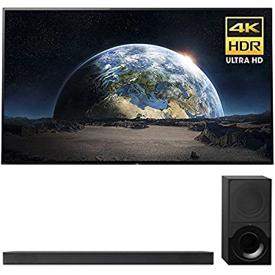 """Sony Bravia XBR77A1E 77"""" 4K HDR Triluminos OLED Android TV with Google Home Compatibility & X1 Processor 3840x2160 + Sony HTX9000F 2.1Ch 4K HDR Compatible Dolby Atmos Soundbar with Bluetooth"""