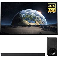 Sony Bravia XBR77A1E 77 4K HDR Triluminos OLED Android TV with Google Home Compatibility & X1 Processor 3840x2160 + Sony HTX9000F 2.1Ch 4K HDR Compatible Dolby Atmos Soundbar with Bluetooth