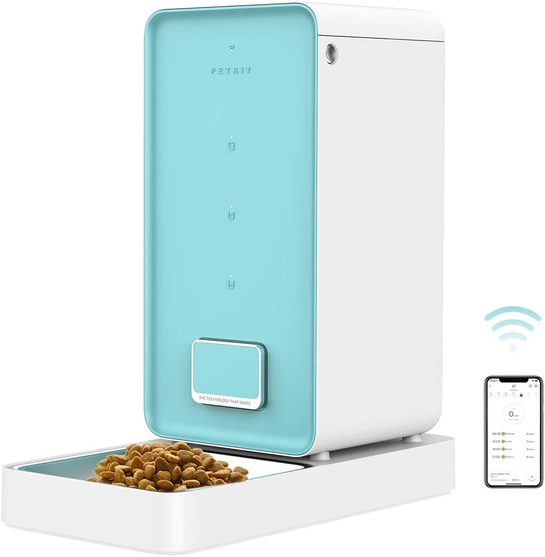 PETKIT Automatic Pet Feeder, Smart Feed Pet Food Dispenser for Cat and Dogs, Wi-Fi Enabled, App for Android, iOS and Compatible with Alexa, Scheduled Feeding, Portion Control