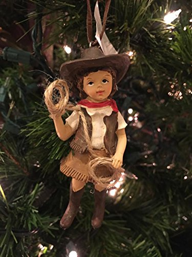 Cowgirl Ornament Christmas Tree Home Decoration