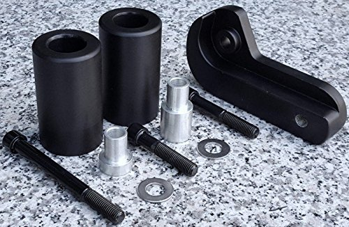 i5 No-Cut Black Frame Sliders for Suzuki GSXR600 GSXR750 GSXR 600 750 2006-2008.