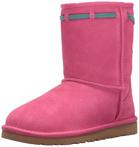 UGG Kids' K Classic Short Carranza Pull-on Boot, Pink Azalea, 1 M US Little Kid by UGG