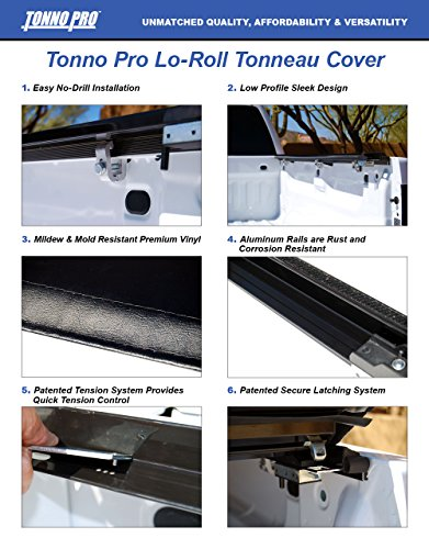 Tonno Pro Tonno Fold 42-301 TRI-FOLD Truck Bed Tonneau Cover 2004-2008 Ford F-150 , 2006-2008 Lincoln Mark LT | Fits 5.5' - Front F-150 Bed Ford