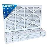 16x25x1 Merv 8 Pleated AC Furnace Air Filters. 12 PACK