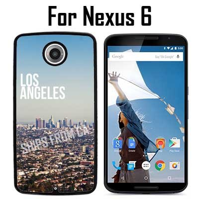 Los Angeles City Custom Case/ Cover/Skin *NEW* Case for Nexus 6 - Black - Plastic Case (Ships from CA) Custom Protective Case , Design Case-ATT Verizon T-mobile Sprint ,Friendly Packaging - T Ca Mobile Los Angeles