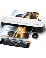 $37 » Laminator, A4 Laminator Machine, 4 in 1 Thermal Laminator for Home Office School Use, 9 inches Max Width, Quick Warm-Up, Paper Trimmer, Corner Rounder (15 Laminating Pouches)