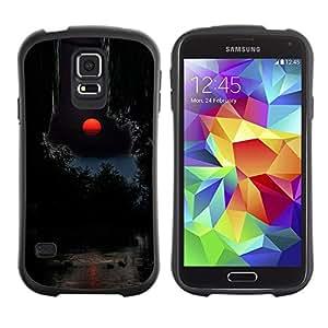 "Hypernova Slim Fit Dual Barniz Protector Caso Case Funda Para Samsung Galaxy S5 [Luna Red Sunset Océano Agua""]"