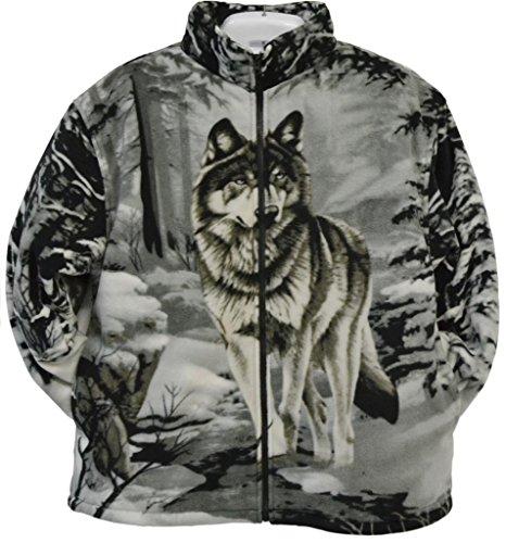 Trail Crest Men's Active R'lixio Animal Print Jacket, 2X, Grey Wolf