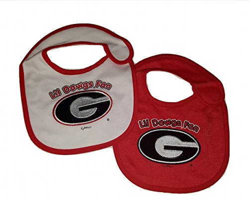 Game Day Outfitters NCAA Georgia Bulldogs Infant Baby Bibs 2 Pack Bib Set