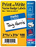 100 Count Name Badge Label [Set of 6]