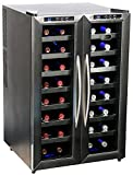 Whynter WC-321DA 32 Bottle Dual Temperature Zone Freestanding Wine Cooler, Black