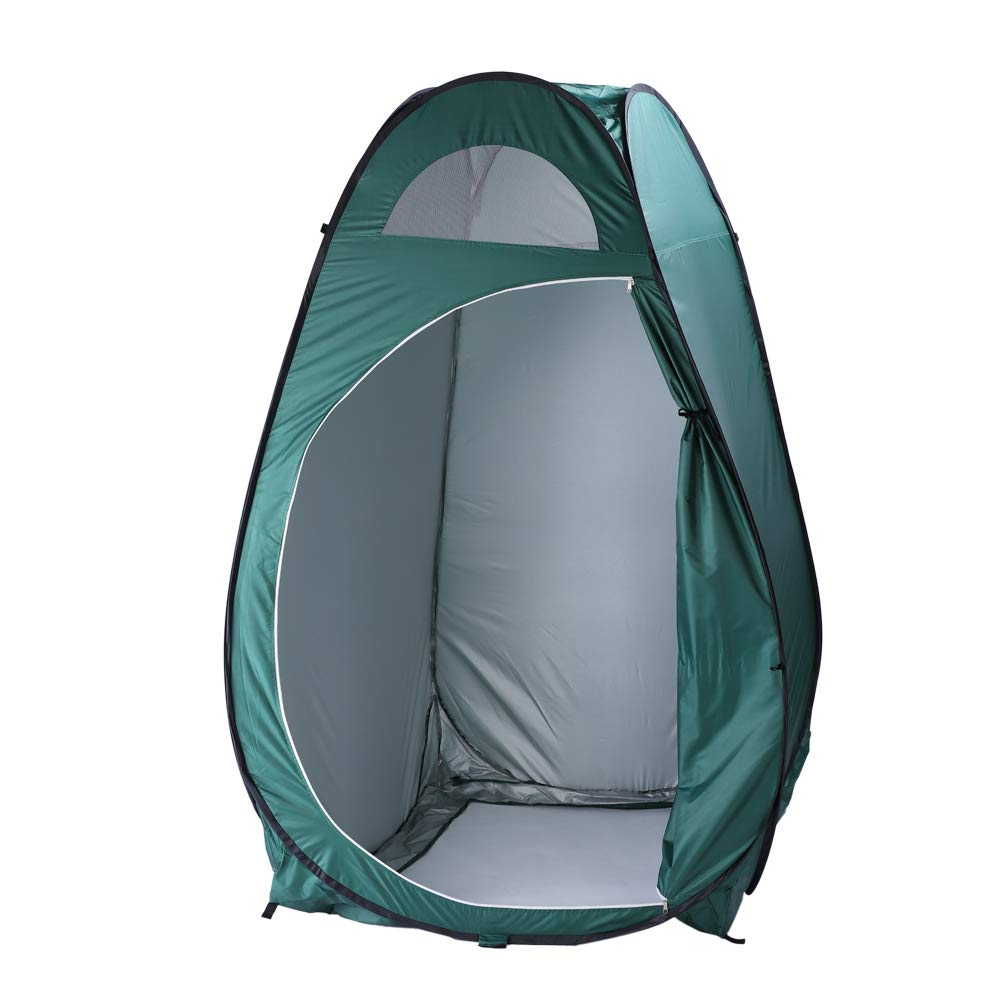 Portable Changing Tent Instant Pop Up Dressing Fitting Room Fold Privacy Shelter Tent w/Carrying Bag, Side Window for Ventilation, Ideal for Forest, Beach, Park, Poolside (Army Green) by HomVent