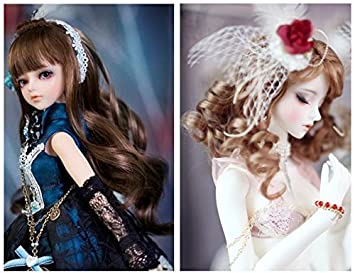 Set Of 7 Color 15100cm BJD//SD Doll DIY Wig Lovely Long Curls Hair,DIY Wigs Hair High-temperature Wire Handmade Curly Doll Wigs Involtini Alla Romana Wig