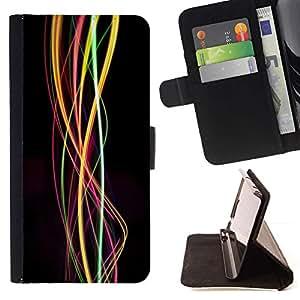 For Sony Xperia M5 E5603 E5606 E5653 Case , Remolino luces brillantes colores Colores- la tarjeta de Crédito Slots PU Funda de cuero Monedero caso cubierta de piel