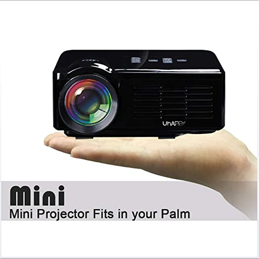 Proyector Mini casa LED Cine en casa LCD Cine proyector 1080P HD ...