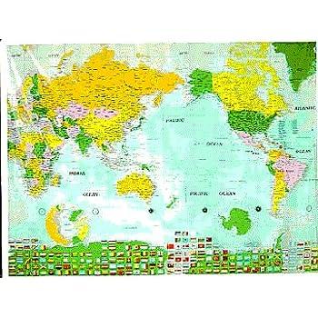 Amazon world map shower curtain home kitchen world map shower curtain gumiabroncs Image collections
