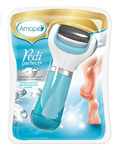 Amopé Pedi Perfect Foot File – Electronic Pedicure Tool – Regular Coarse, Blue 5114dWG j 2BL