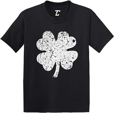 Distressed Four Leaf Clover Luck Irish Long Sleeve Toddler Cotton Jersey Shirt