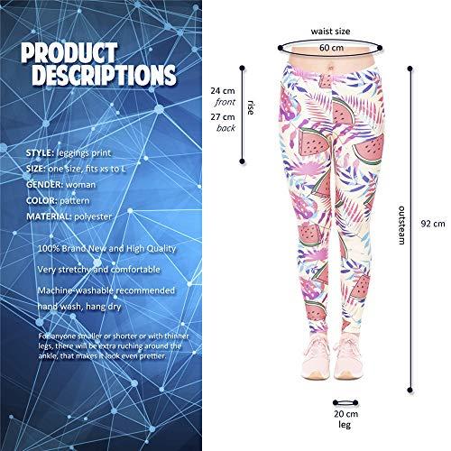 Ajusté Stretch 3d Pantalon Fitness Haute 4 1 Femme Imprimé Yoga TrrYSMaB