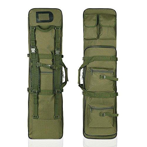 LUVODI 47-inch Rifle Case Tactical Gun Bag Soft Padded Carbi