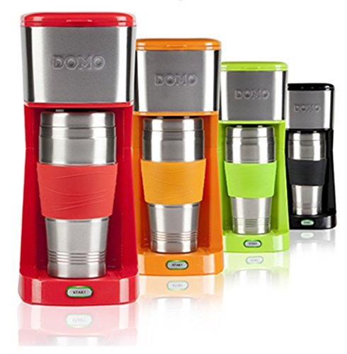 Domo DO439K - Cafetera (Independiente, Drip coffee maker, De café molido, Naranja, Acero inoxidable, Acero inoxidable, Café): Amazon.es: Hogar