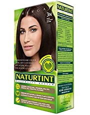 NaturTint Permanent Hair Colour - 3N Dark Chestnut Brown, Ammonia Free, Vegan, Cruelty Free, up to 100% Gray Coverage, Long Lasting Results