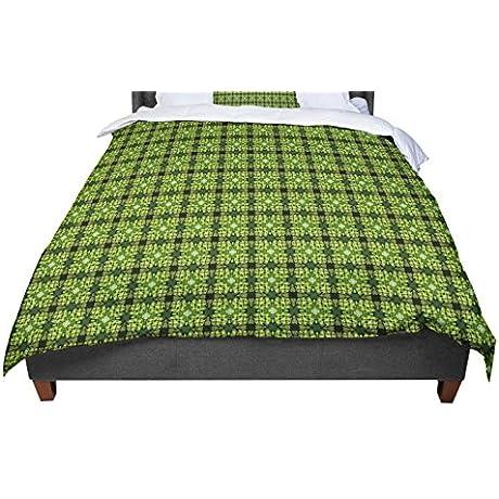 KESS InHouse Matthias Hennig Floral Green Floral Geometric Twin Comforter 68 X 88