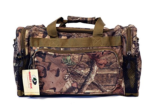 KC Caps Mens Mossy Oak Camo Duffle Gear Bag with Adjustable Strap Sports Gym Bag