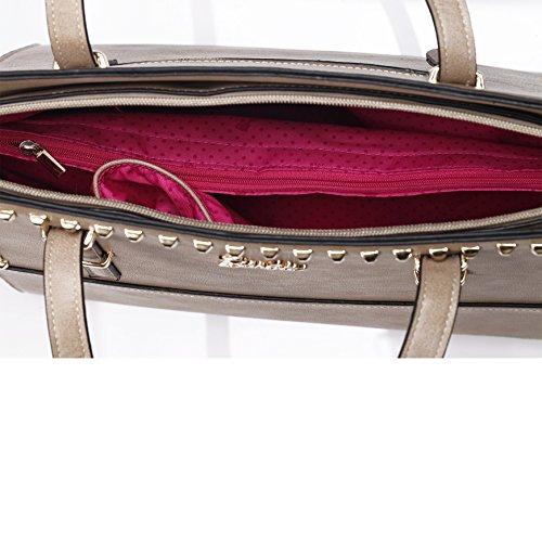 Barbie Bolso bandolera y baguette elegante de estilo chicas bolso casual de fiesta para mujer BBFB552 38x27x15CM marrón