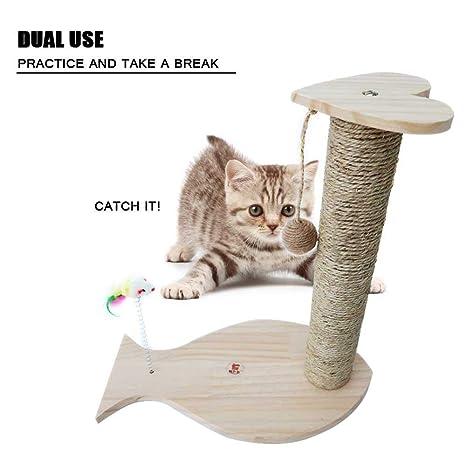 AOLVO Couch Saver rascador para Gatos, rascador Poste de sisal Natural, Alfombrilla de rascador