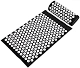 BalanceFrom Acupressure Mat and Pillow Set for Back and Neck Pain Relief