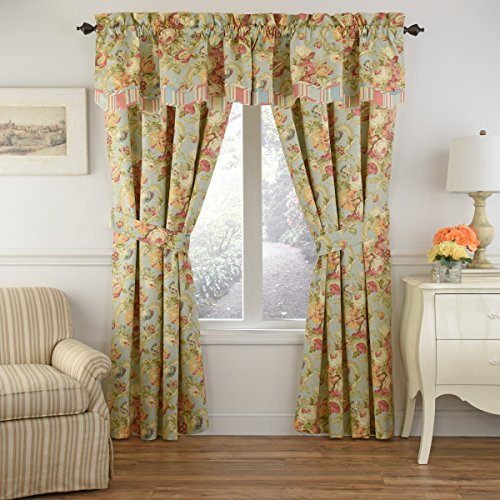 Waverly Spring Bling Window Curtain, 63x52, Vapor - Waverly Spring