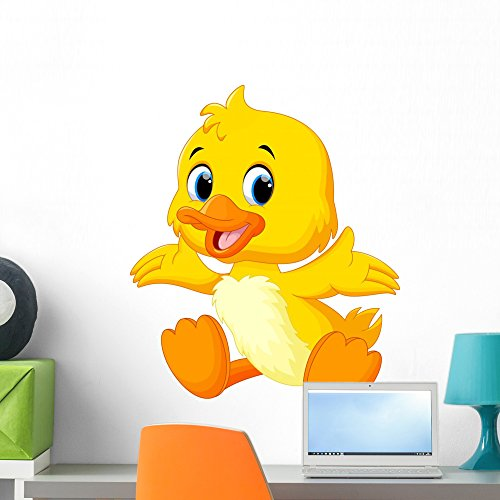 (Wallmonkeys Cute Baby Duck Lifted Wall Decal Peel and Stick Graphic (24 in H x 20 in W) WM362104)