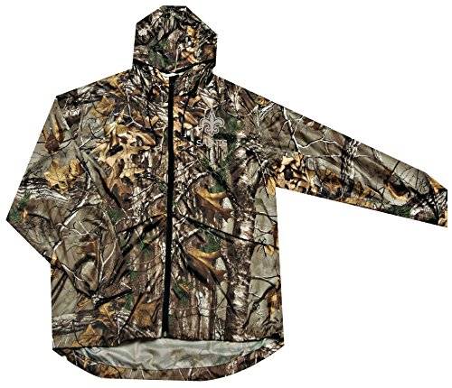 NFL New Orleans Saints Sportsman Windbreaker Jacket, Real Tree Camouflage, Large - University New Orleans Basketball