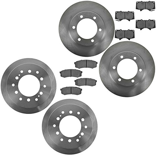 Front & Rear Posi Ceramic Brake Pad & Rotor Kit for Toyota Truck SUV (Truck 4runner Front Brake Pads)