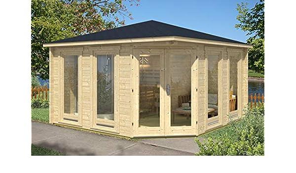 Alpholz Sandor-70 - Sauna de 5 Esquinas, 70 mm de Grosor (400 x 400 cm): Amazon.es: Jardín