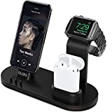 OLEBR Charging Stand for Apple Watch Aluminum Watch Charging Stand for AirPods, Apple Watch, Apple Watch Series 3/2/1/ AirPods/iPhone X/8/8Plus/7/7 Plus /6S /6S Plus/iPad