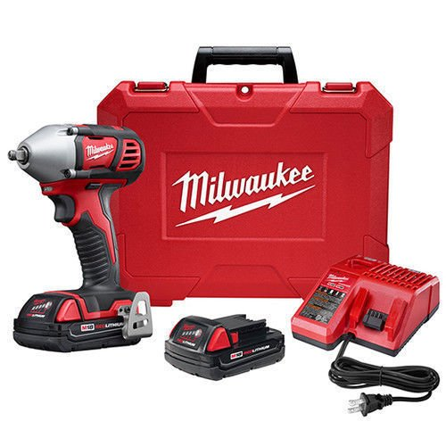 Milwaukee M18 18V 3/8 Impact Wrench Kit with Friction Ring 2658-22CT New