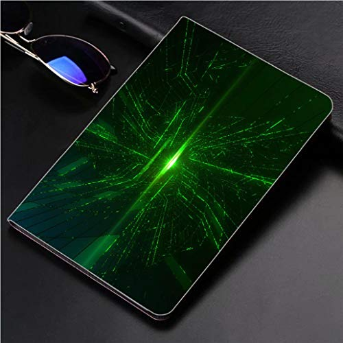 """iPad 9.7"""" 2018 / iPad Air 1/2 Case Abstract Data Flowing in Futuristic Fiber Optic Tunnel Technology Background 360 Degree Swivel Mount Cover for Automatic Sleep Wake up ipad"""