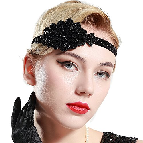 BABEYOND 1920s Flapper Headband Crystal Great Gatsby Headpiece Vintage 20s Flapper Gatsby Accessories (Style-2) -